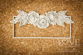 Coral, Navy Romance Longitudinal frame with peony