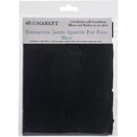 Foundations Jagged Quarter Flip Folio Black