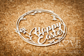 Easter Bunny Inscription Happy Easter