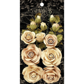 Rose Bouquet Collection Classic Ivory & Natural Linen