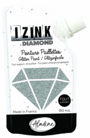 Izink Diamond Glitter Paint Silver