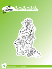 Clear Stamps Funny Cleaning Lady 3