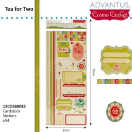 Tea for two cardstock stickers x54