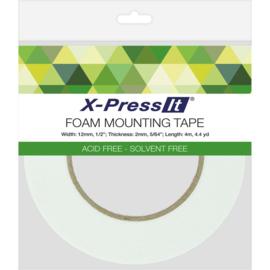 """Double-Sided Foam Tape 12mm .5""""X4.4yd"""