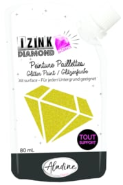Izink Diamond Glitter Paint 24 Carats Light Gold