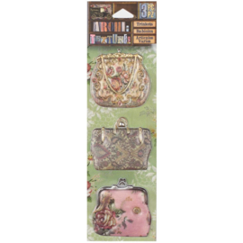 Architextures Trinkets Floral Fabric Pocketbooks