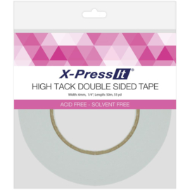"""High Tack Double-Sided Tissue Tape .25""""X55yd"""