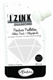 Izink Diamond Glitter Paint White