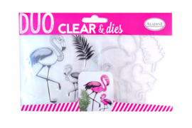 Clear Stamps & Dies Flamingo