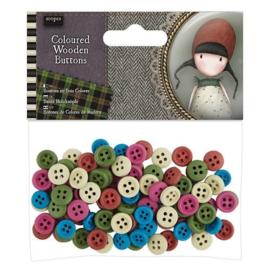 Gorjuss Coloured Wooden Buttons