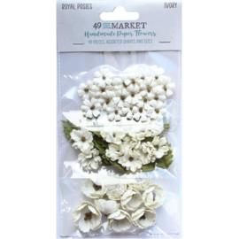 Royal Posies Paper Flowers Ivory