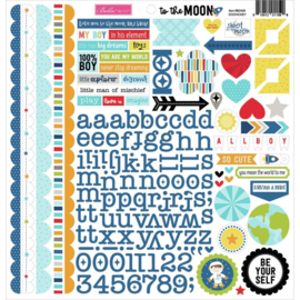 To The Moon Cardstock Stickers Doohickey
