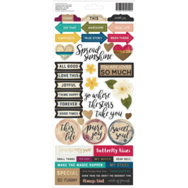 Storyteller Cardstock Stickers Accents & Phrases