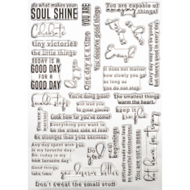 "Clear Stamp Set 6""X8"" My Favorite Things To Say"