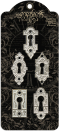 Shabby Chic Ornate Metal Key Holes