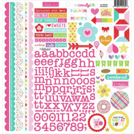 My Candy Girl Cardstock Stickers Doohickey