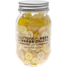 Button Mason Jars Lemon Twist