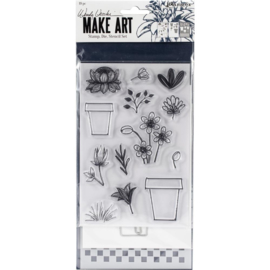 Make Art Stamp, Die & Stencil Set Flower Pot