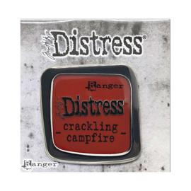 Crackling Campfire Distress Enamel Collector Pin