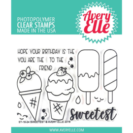 "Clear Stamp Set Sweetest 4""X3"""