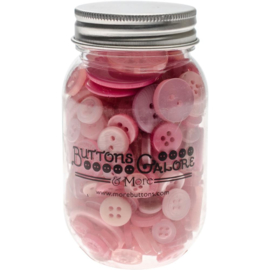 Button Mason Jars Pink Grapefruit