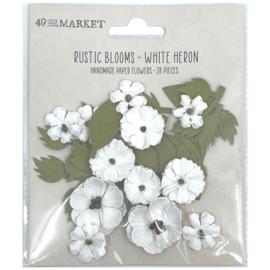 Rustic Blooms Paper Flowers  White Heron