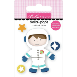To The Moon Bella-Pops 3D Stickers Space Boy