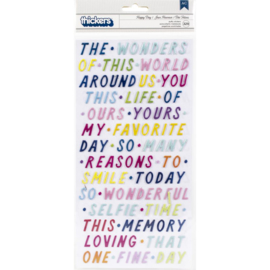Wonders Thickers Stickers Happy Day Phrases