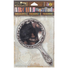 Tarnished Silver Handle Mirror