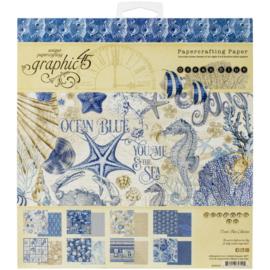 "Ocean Blue Paper Pad 8""X8"""