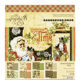 "Christmas Time Paper Pad 8""X8"""