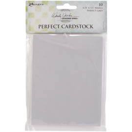 "Perfect Cardstock Grey Panels 4.25""X5.5"""