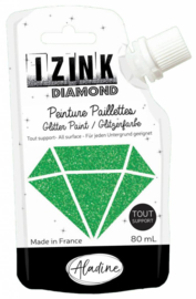 Izink Diamond Glitter Paint Green