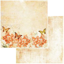Vintage Artistry In Mango Orange Blossom