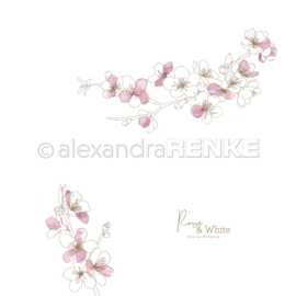Rose & White cherry blossoms