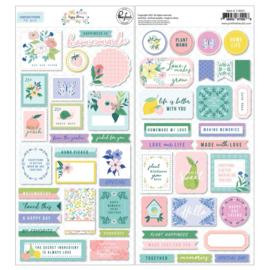 Happy Blooms Cardstock Stickers