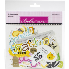 Chloe Words Cardstock Ephemera