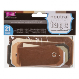 Tags with string assorted neutral
