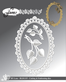 Cutting & Embossing Dies Frame With Leaves