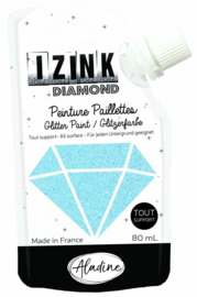 Izink Diamond Glitter Paint Sky Blue