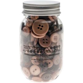 Button Mason Jars Warm Cocoa