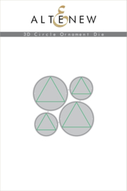 3D Die set Circle Ornament