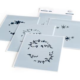 "Stencils 4.25""X5.25"" Floral Wreath"