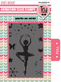 Animation Clear Stamp Ballerina