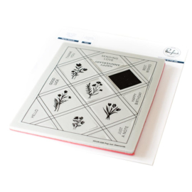 Cling Rubber Background Stamp Set A2 Pop-Out Diamonds