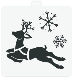 Stencil Christmas Deer