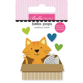 Chloe Cat In A Box Bella-Pops 3D Stickers