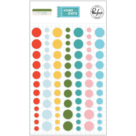 Some Days Enamel Dot Stickers