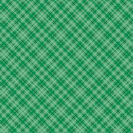 Patterned single-sided d.green plaid