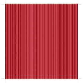 Patterned single-sided red stripe